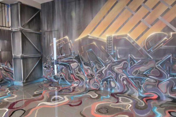 Graffiti Art Garage Interior